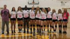 Watkins Memorial Warriors Girls Varsity Volleyball Fall 15-16 team photo.