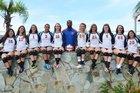 Cocoa Beach Minutemen Girls Varsity Volleyball Fall 15-16 team photo.