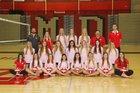 Mater Dei Monarchs Girls Varsity Volleyball Fall 15-16 team photo.