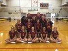 Central Catholic Rams Girls Varsity Volleyball Fall 15-16 team photo.