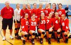 Barnstable Red Raiders Girls Varsity Volleyball Fall 15-16 team photo.