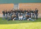 Primero Bulldogs Girls Varsity Volleyball Fall 15-16 team photo.