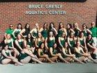 Lander Valley Tigers Girls Varsity Swimming Fall 18-19 team photo.