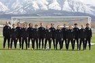 Salem Hills Skyhawks Boys Varsity Soccer Spring 18-19 team photo.