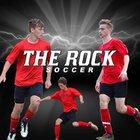 The Rock Lions Boys Varsity Soccer Spring 18-19 team photo.