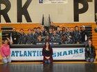 Atlantic Sharks Boys Varsity Wrestling Winter 16-17 team photo.