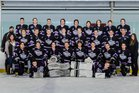 North Branford Thunderbirds Boys Varsity Ice Hockey Winter 15-16 team photo.