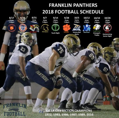 schedule franklin panthers football los angeles ca